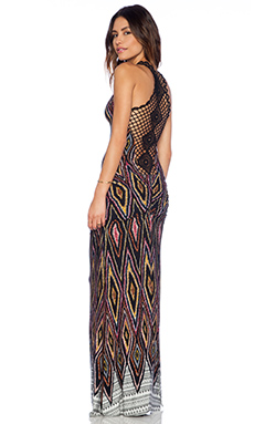 sky Nehelam Maxi Dress in Black