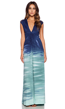 sky Persisse Maxi Dress in Green