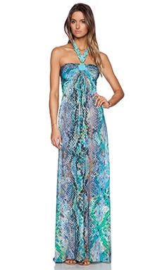 sky Platinu Dress in Aqua