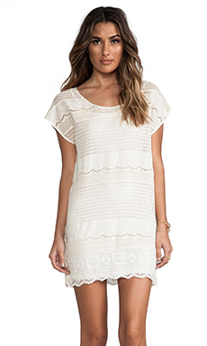 Somedays Lovin Dimensions Lace Tee Dress in Bone