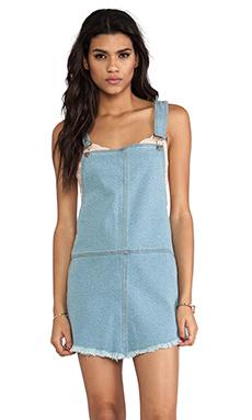 Somedays Lovin Casablanca Denim Overall Dress in Blue