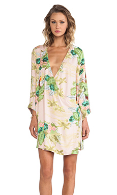 Somedays Lovin Hoax Tropical Cape Dress in Multi