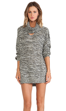 Somedays Lovin Whiskey Spider Knit Dress in Charcoal