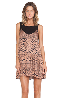 Somedays Lovin Amur Leopard Layer Dress in Multi