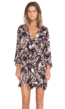 Somedays Lovin Deep End Cape Dress in Floral