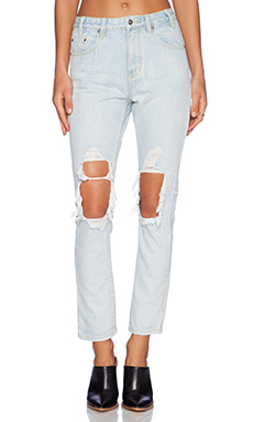 Somedays Lovin Gazer Rigid Denim Boyfriend in Ice Blue