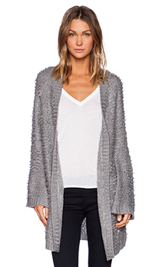 Somedays Lovin Turntable Knit Kimono in Charcoal