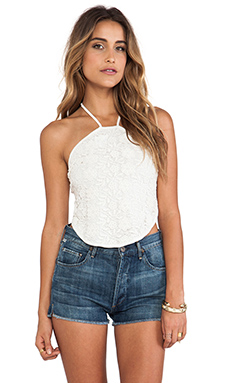 Somedays Lovin The Silence Lace Halter Top in White