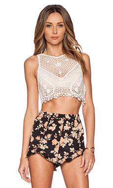 Somedays Lovin Stones Crochet Top in White
