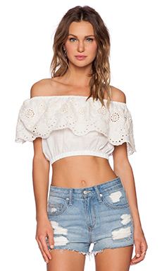 Somedays Lovin Prime Time Waist Tie Top in White