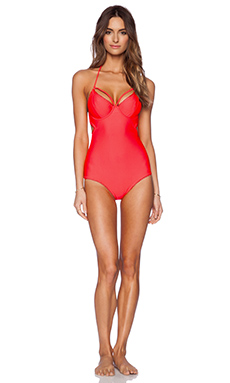 Somedays Lovin Blazin One Piece in Coral
