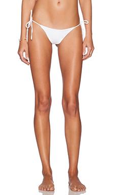 Salt Swimwear Alex Bikini Bottom in White
