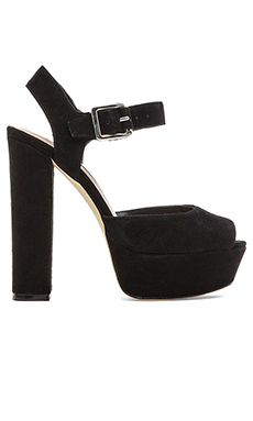 Steve Madden Jilly Heel in Black Suede