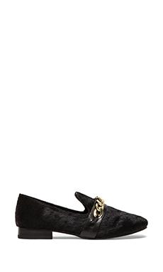Steve Madden Changig Loafer with Calf Fur in Black