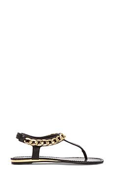 Steve Madden Hottstuf Sandal in Black Leather