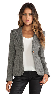 Smythe Tweed Duchess Blazer in Black & White