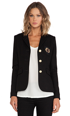 Smythe Three Button Schoolboy Blazer in Black