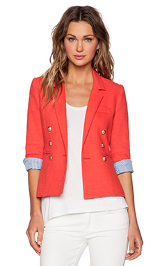 Smythe Rumpled College Blazer in Nantucket Red