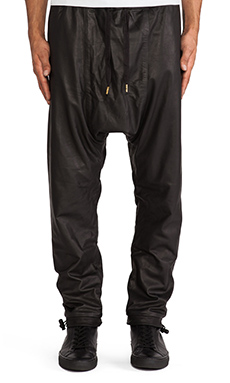 SKINGRAFT Leather Jogging Pant in Black