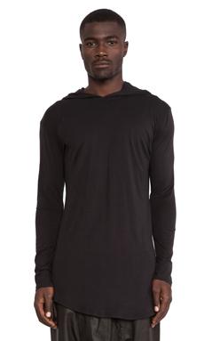 SKINGRAFT Hooded Jersey Tee in Black