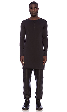 SKINGRAFT Long Henley in Black