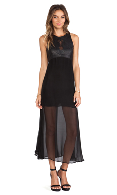SKINGRAFT Chiffon Vertebrae Dress in Black