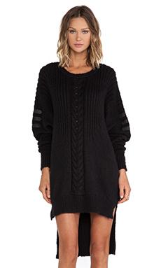 SKINGRAFT Oversized Knit Dress in Black
