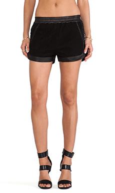 SKINGRAFT Corset Mesh Runner Shorts in Black