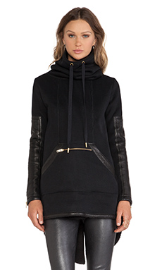 SKINGRAFT Double Knit Zip Tunic in Black