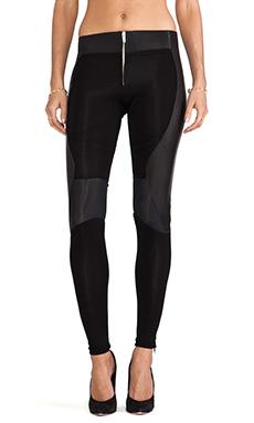 SKINGRAFT Leather Running Leggings in Black