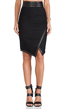 SKINGRAFT Wool Pencil Skirt in Black