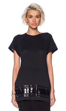 SKINGRAFT Mandala Tunic T-Shirt in Black