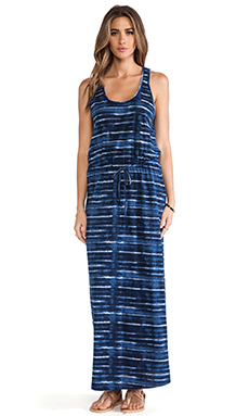 Soft Joie Dimzni Dress in Indigo Blue & Eggshell