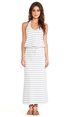Soft Joie Yanna Maxi Dress in Heather Grey & Porcelain
