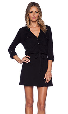 Soft Joie Dwight Shirtdress in Caviar