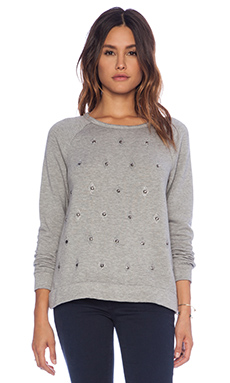 Soft Joie Clarisse Studded Sweater in Heather Grey
