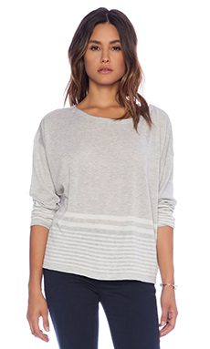 Soft Joie Carter Sweater in Heather Grey & Porcelain
