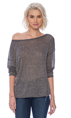 Soft Joie Nash Sweater in Caviar & Porcelain