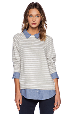 Soft Joie Diadem Sweater in Heather Grey
