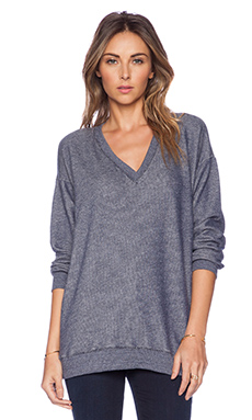 Soft Joie Beau C Sweatshirt in Peacoat Heather
