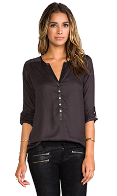 Soft Joie Rongo Blouse in Gunmetal