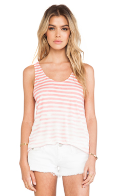 Soft Joie Akiko Tank in Sandy Coral & Antique White