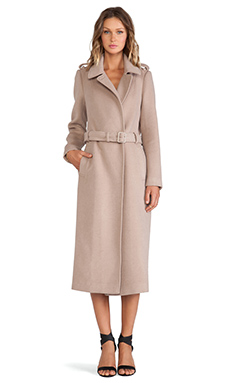 Soia & Kyo Rebecca Classic Wool Trench Coat in Nude