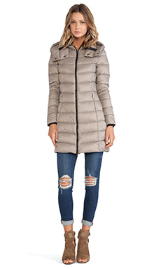Soia & Kyo Kisha Lightweight Down Jacket in Taupe