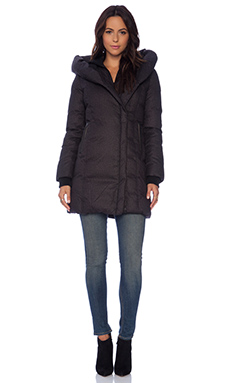 Soia & Kyo Camyl Brushed Down Coat in Black