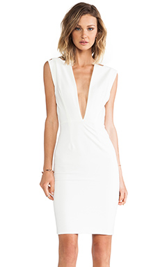 SOLACE London Conquest Knee Length Dress in Cream