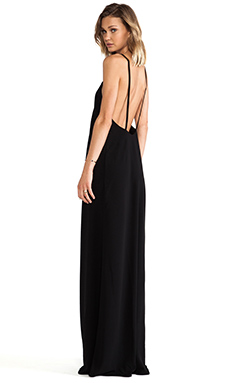 SOLACE London Wilma Maxi Dress in Black