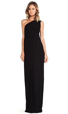 SOLACE London Bourdan Maxi Dress in Black