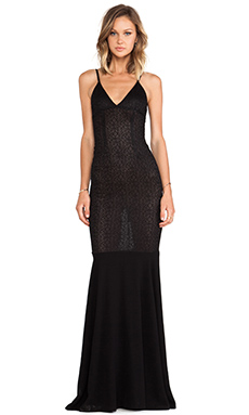 SOLACE London Ursula Maxi Dress in Black