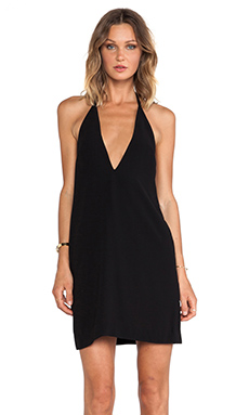 SOLACE London Mae Mini Dress in Black